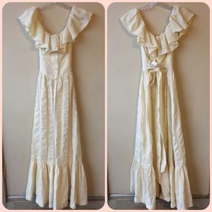 VTG Victorian style ruffle dress